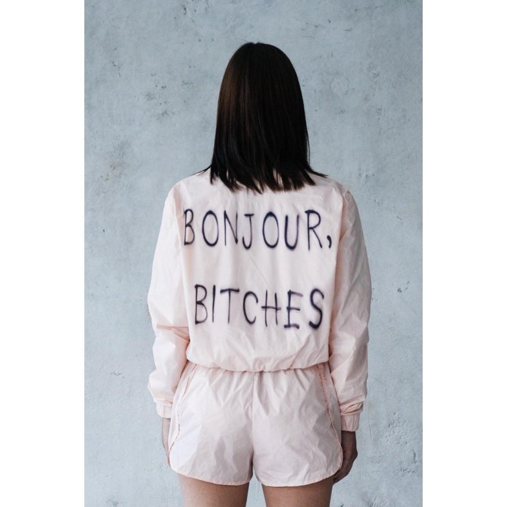 """Ветровка """"Bonjour bitches"""""""